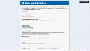 Lunch Detention